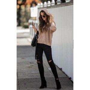 🎀 Just In Feeling Cozy Zippered Hoodie Sweater